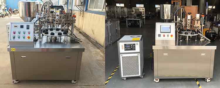 semi automatic tube filling machine
